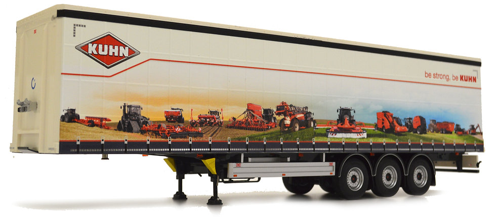 Pacton curtainsider trailer Kuhn design