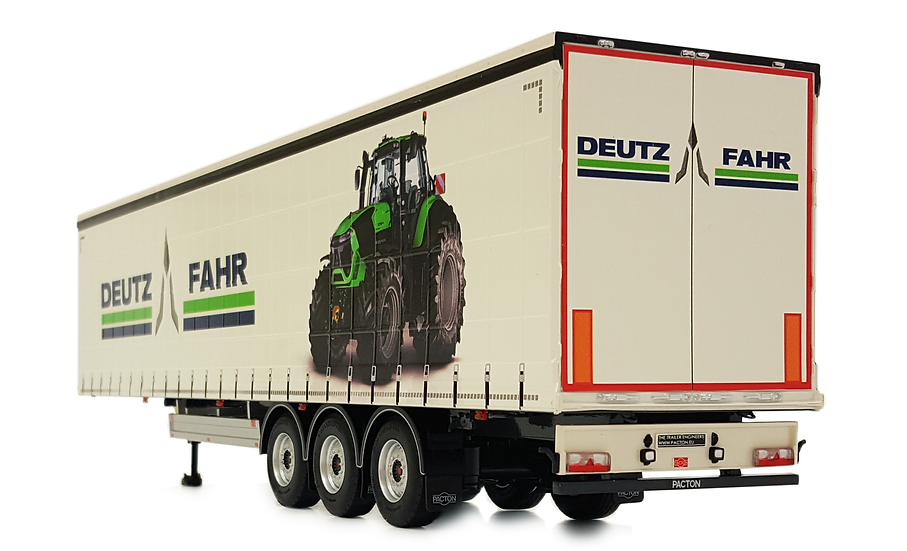 Pacton curtainsider trailer Deutz design