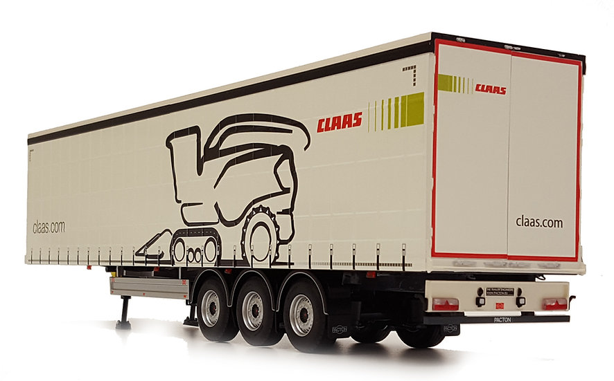 Pacton curtainsider trailer Claas design