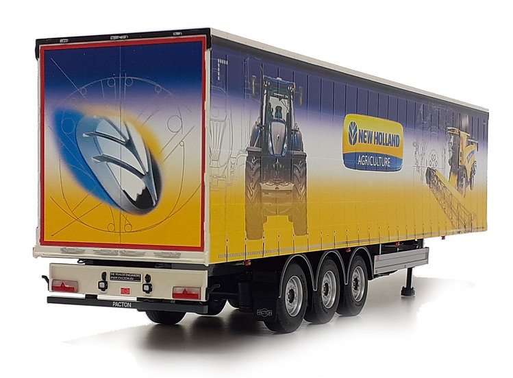 Pacton curtainsider trailer New Holland design