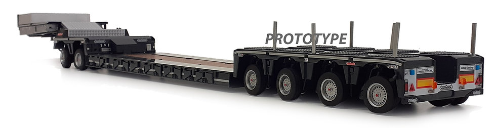 Nooteboom Euro lowloader, anthracite, with interdolly