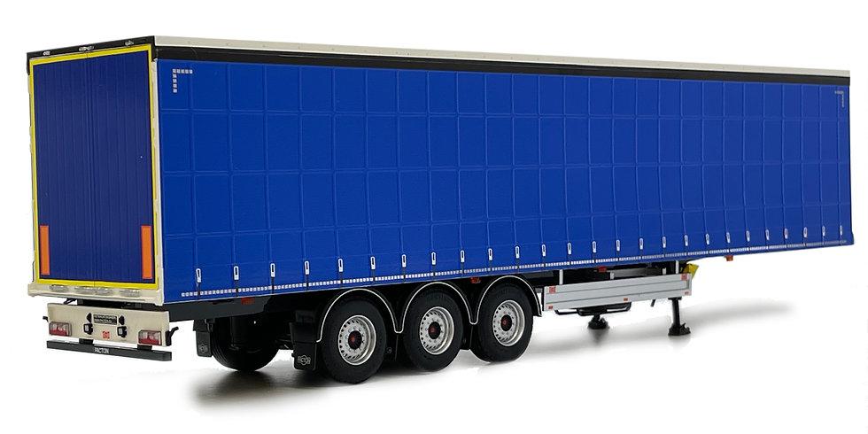 Pacton curtainsider trailer plain blue
