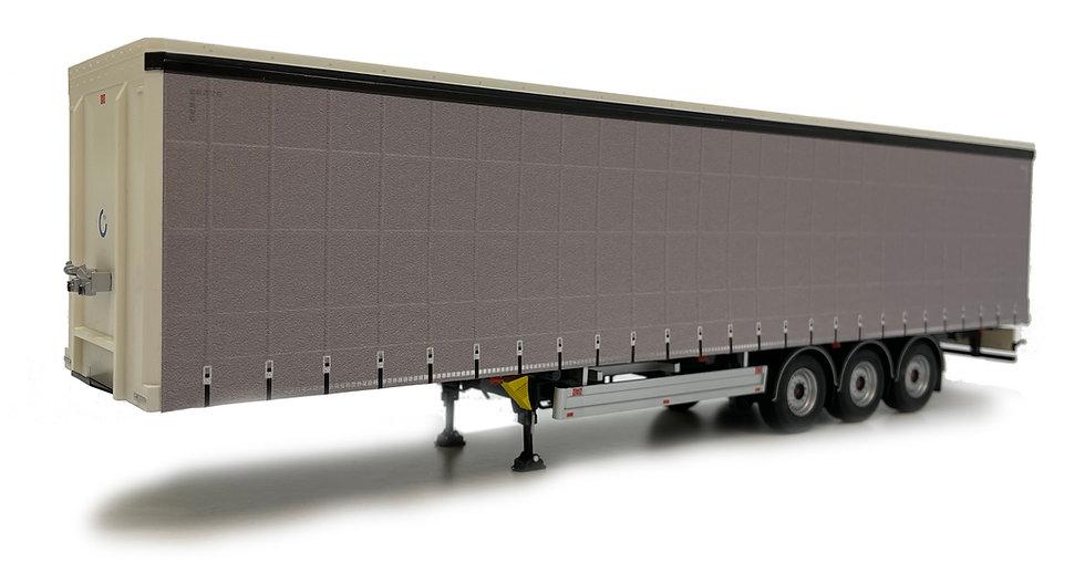 Pacton curtainsider trailer plain gray