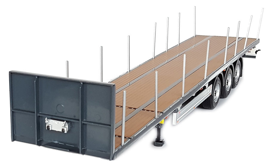 Pacton flatbed trailer anthracite