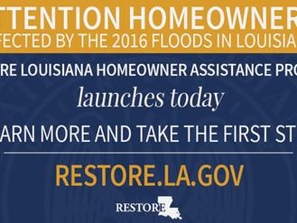 RESTORE Survey for Homeowner Assistance Begins April 10