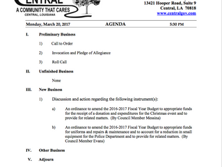 Budget Committee Meeting Agenda Monday, March 20
