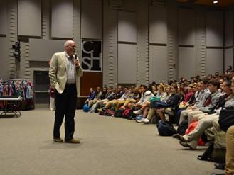 """Mayor Shelton encourages CHS students to """"think big"""" for community showcase civics project"""