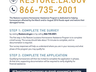 Begin the Homeowner Assistance Survey and Application Process