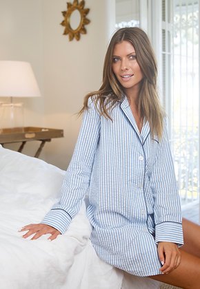 WOMENS SEERSUCKER NIGHTSHIRT