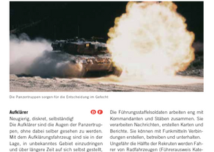 Rekrutierungsfunktionen der Panzertruppen - Kurzportraits