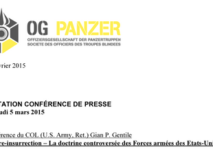Einladung zur Pressekonferenz / Inviation conference de presse OG Panzer