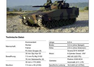 Panzertypenblatt: Schützenpanzer 2000 (Spz 2000) der Schweizer Armee