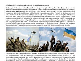 Krieg in der Ostukraine 2014/2015 (4/4): Merkmale des Krieges im Donbass zu Land und in der Luft