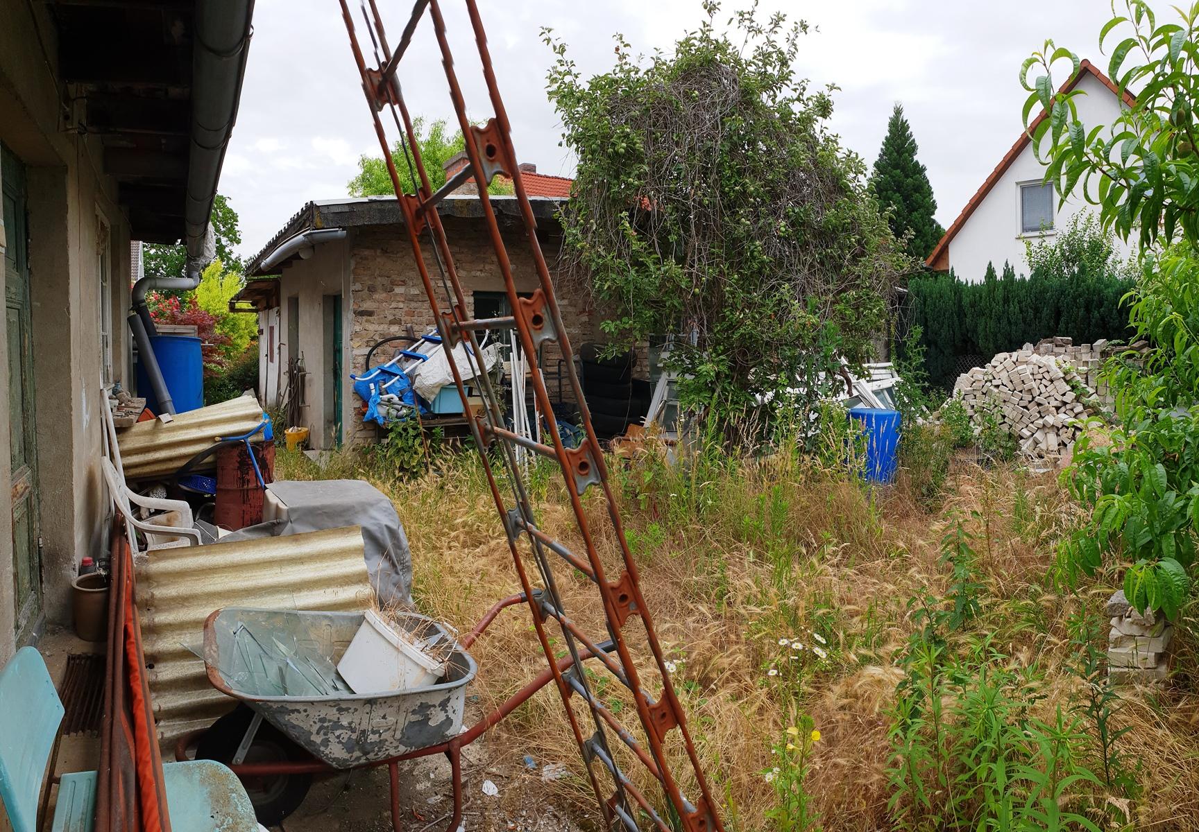 Freifläche hinter dem Haus