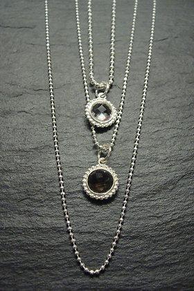 Halskette mit runder Anhänger