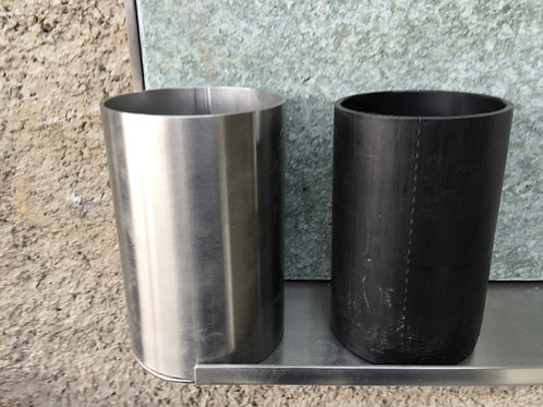 Vase in Chromstahl