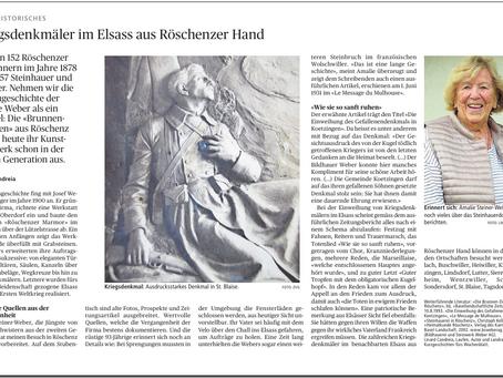 Kriegsdenkmäler im Elsass aus Röschenzer Hand