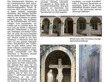 Kunstdenkmäler in Röschenz