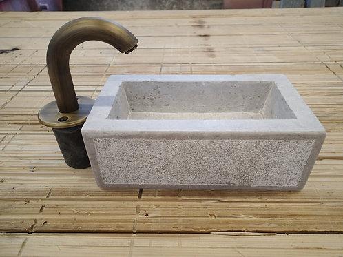Brunnenröhre gebogen mit Montageplatte Typ Weber