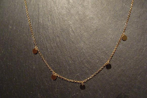 Halskette vergoldet 5Rondi