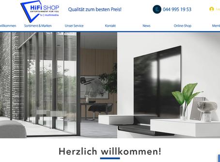 HiFi SHOP AG                                                   lanciert eine neue Webseite