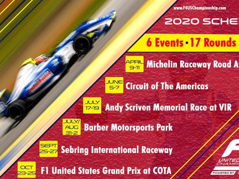 2020 F4 U.S. Championship Calendar Announced