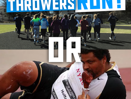 Should Throwers Run?