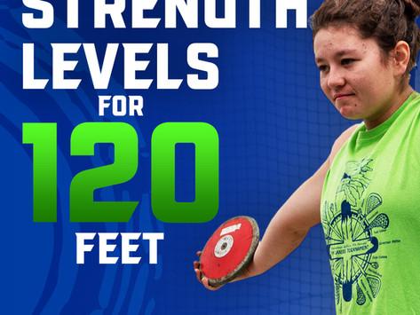 Benchmark Lifts to Throw 120 Feet (High School Girls Discus)