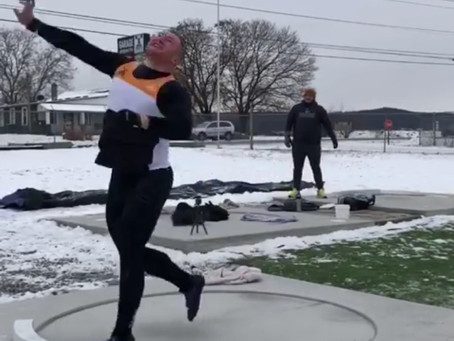 Throwing While It's Snowing