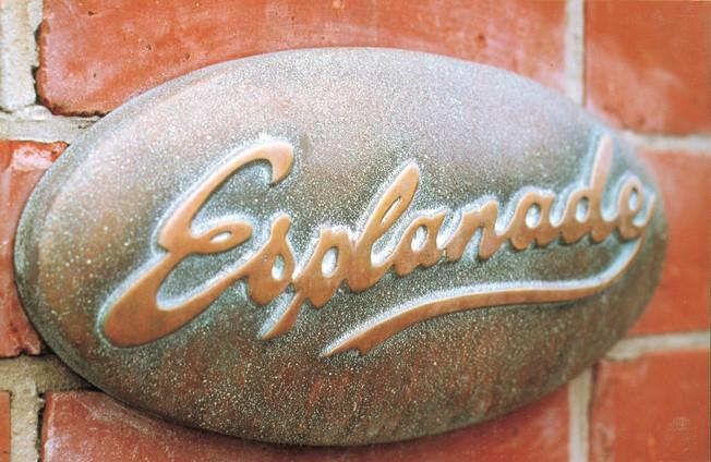 Esplanade Cast Brass Sign