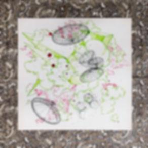 Geo Shape (pen & printed image & acrylic