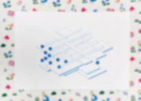 부분이나 요소가 공간을 구성하는 방식 (pen on cotten paper 25X17cm)