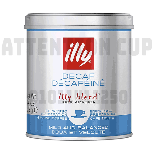 illy espresso Decaffeinated ground 125g