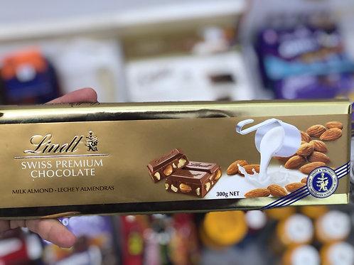 Lindt Swiss Premium Milk Almond Chocolate - 300 G