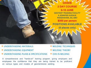 NEW COOLEY EIA OASIS GEOMEMBRANE WELDING COURSE