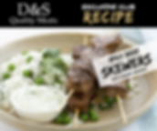 D&S Recipe Tile-Spicy Beef Skewers + Yog