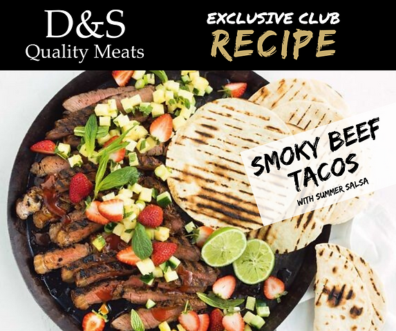 D&S Recipes Smokey Beef Tacos with Summe