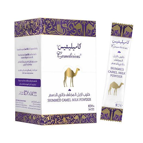 Mleko wielbłądzie odtłuszczone w saszetkach 24 x 5 g.
