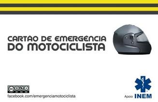 Cartão de Emergência do Motocilcista