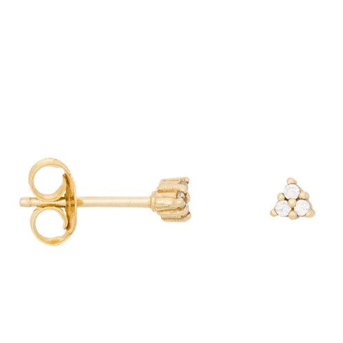 Triangle zirconia earrings