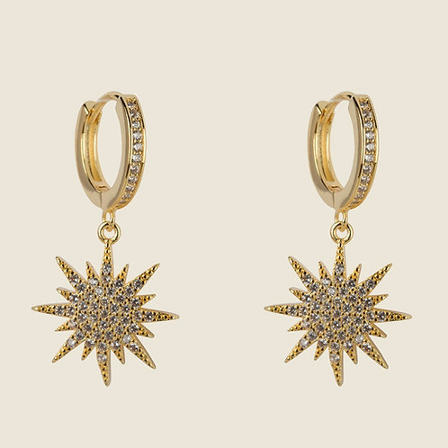 THE MINI NORTHERN STAR EARRINGS – 18K