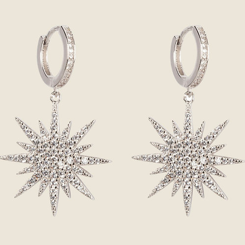 THE NORTHERN STAR EARRINGS – SILVER