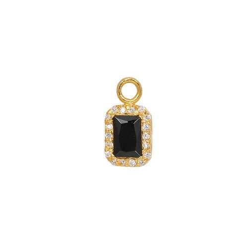 Mix & Match Black Square Golden - Pendant