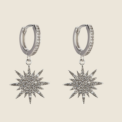 THE MINI NORTHERN STAR EARRINGS – SILVER