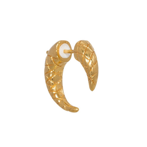Single snake tusk earring