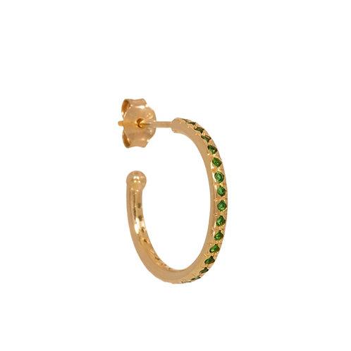 Mix & Match single large emerald hoop