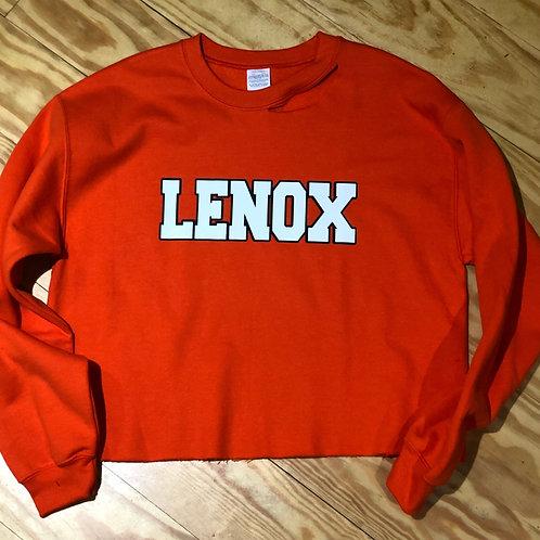 Lenox Cropped Orange Sweatshirt