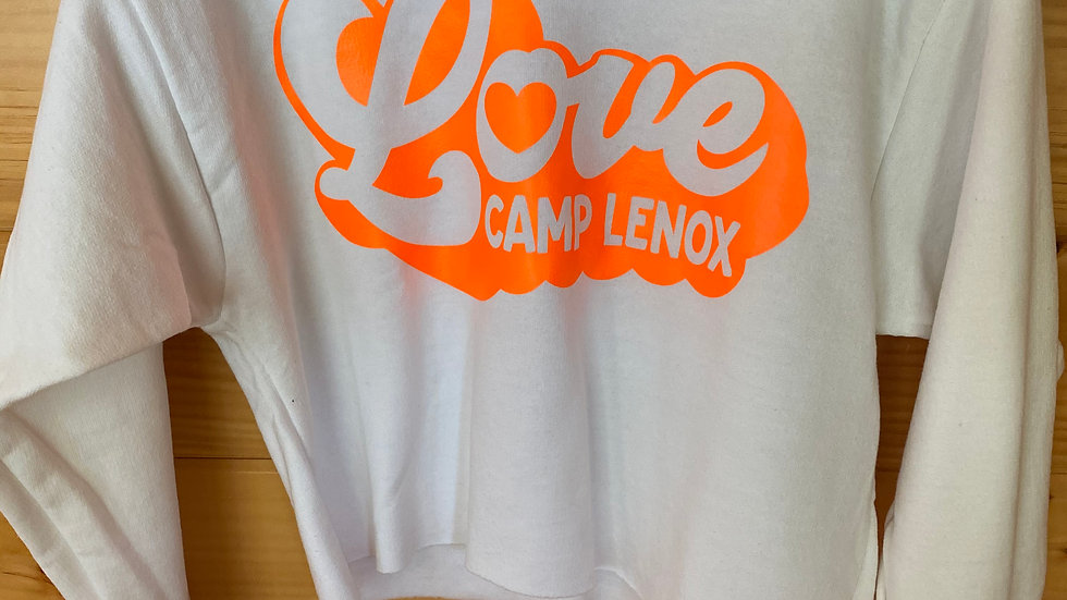 "Retro ""LOVE"" Cropped Sweatshirt"