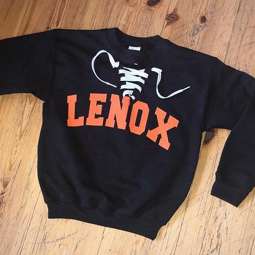 Black Lace-Up Sweatshirt