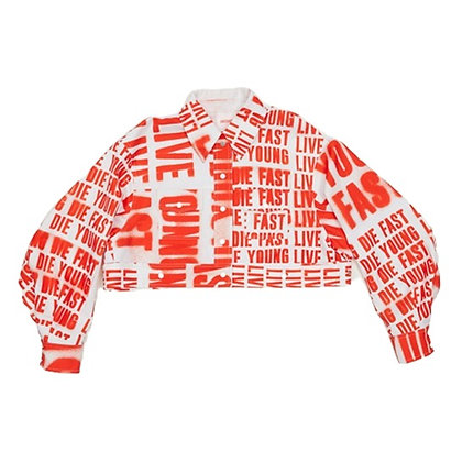 Live Fast, Die Young Cropped Top
